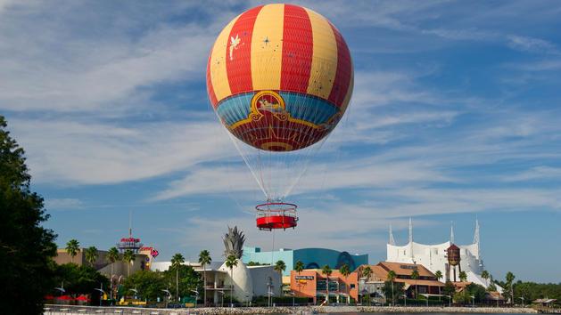 Characters in Flight at Disney Springs