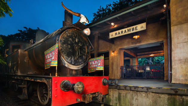 Wildlife Express Train at Harambe Station in Africa