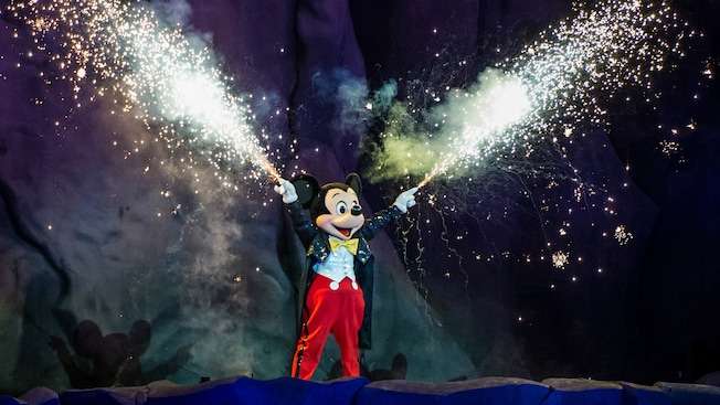 Mickey Mouse at Fantasmic in Walt Disney World
