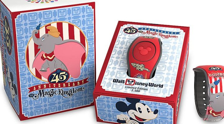 Limited Edition 45th Anniversary MK Dumbo MagicBand Now Available!