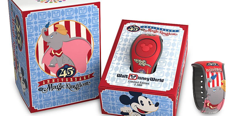 Limited edition Dumbo MagicBand for the 45th Anniversary of the Magic Kingdom at Walt Disney World