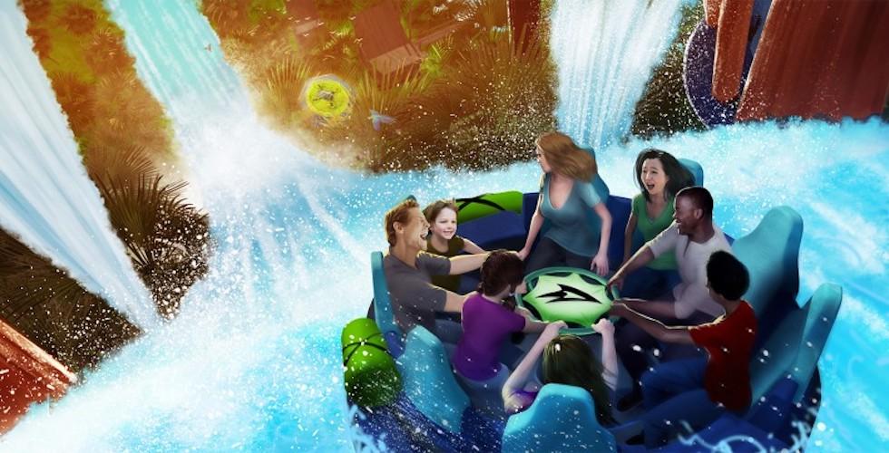 Infinity Falls concept art at SeaWorld Orlando
