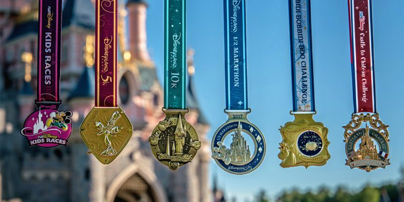 2017 Disneyland Paris Half Marathon weekend medals