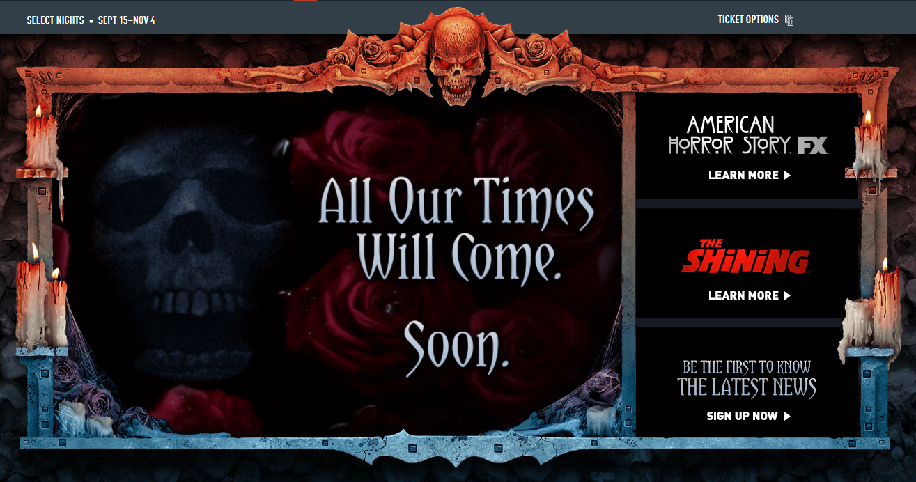 Halloween Horror Nights 27, All our times will come, soon