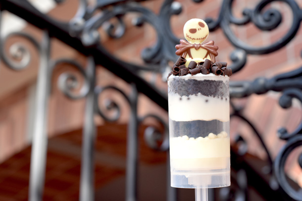 Jack Skellington dessert from the 2018 Mickey's Not-So-Scary Halloween Party