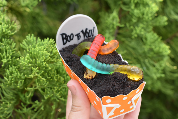 worms and dirt from the 2017 Mickey's Not-So-Scary Halloween Party