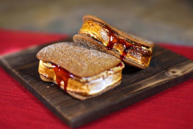 Peanut butter and jelly Smore from The Ganachery
