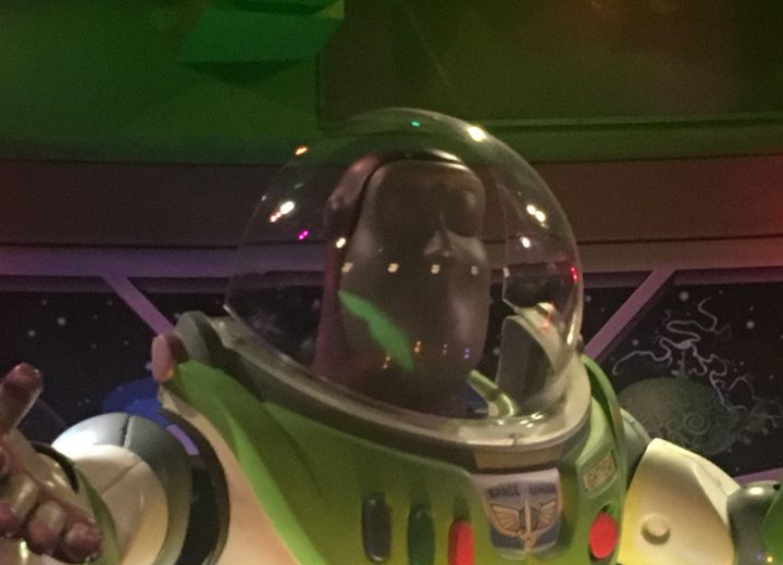 Buzz Lightyear Makes an Interesting Costume Choice at Disneyland Paris