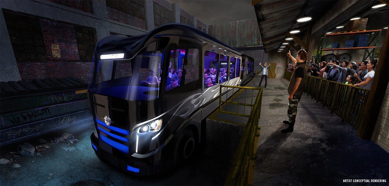 Fast & Furious Supercharged Ride Loading Area Concept Art