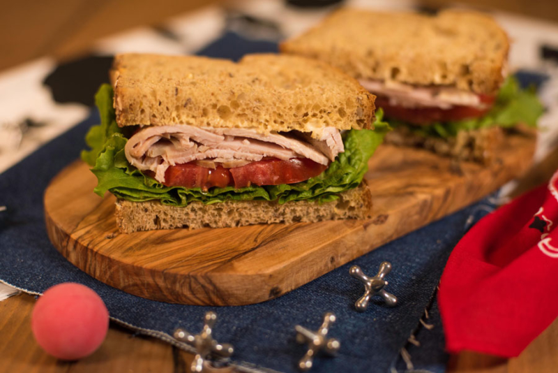 Woody's Lunch Box smoked turkey sandwich