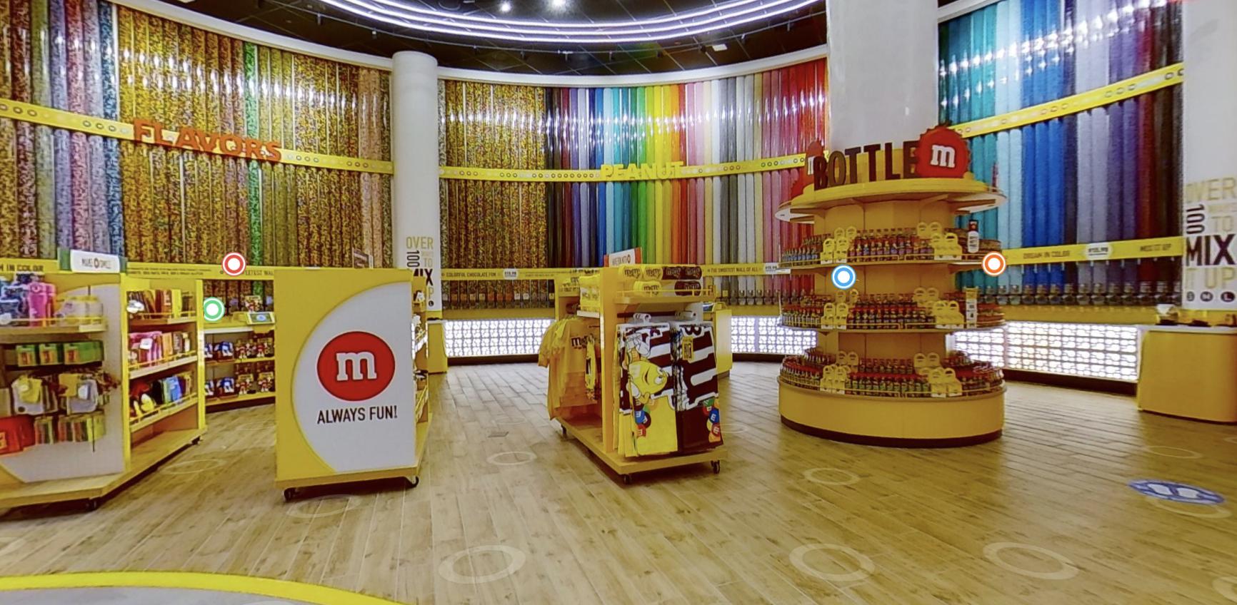 M&M virtual tour at Disney Springs