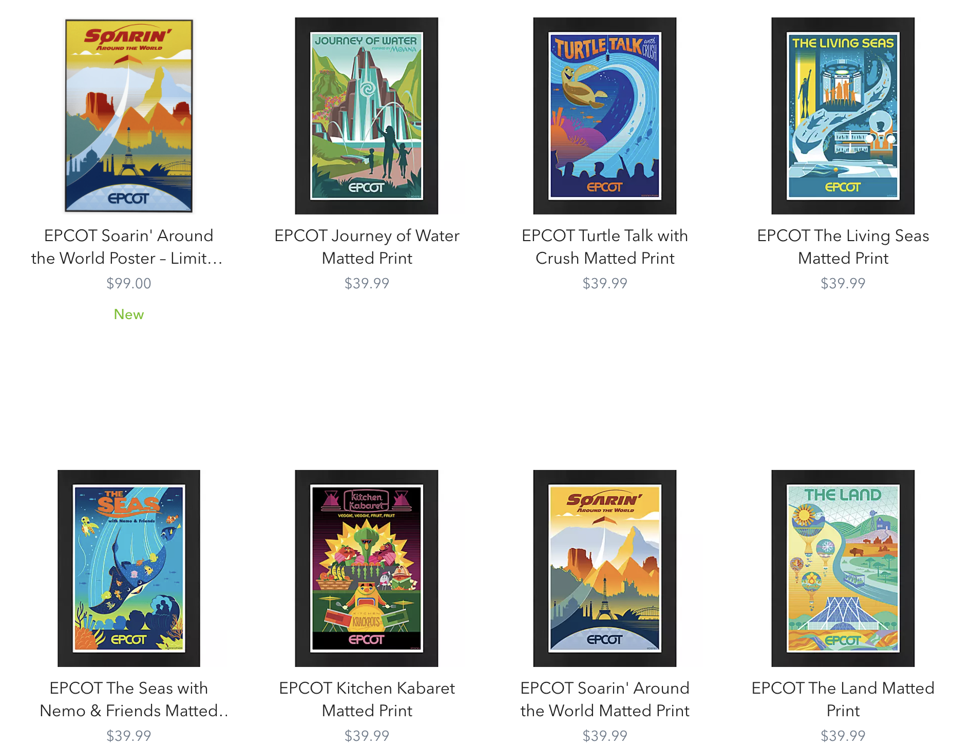EPCOT collection on shopDisney